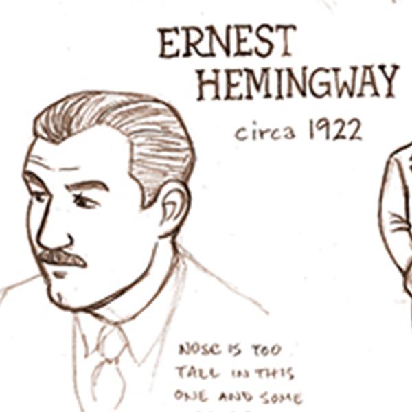 Hemingway_Ralston_Paris sketches SQ